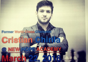 World Chess Champion Cristian Chirila visits NHA