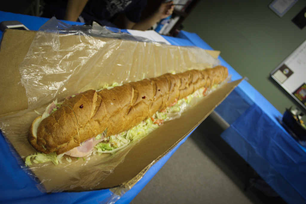 A six foot hoagie was enjoyed by all